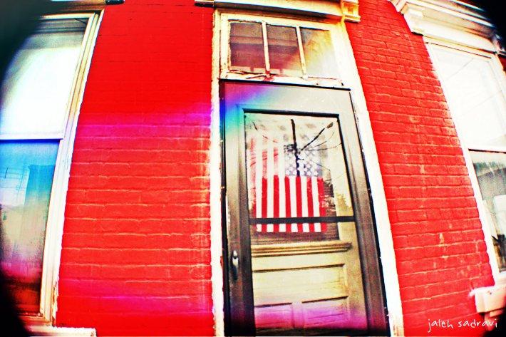 cincy flag in window