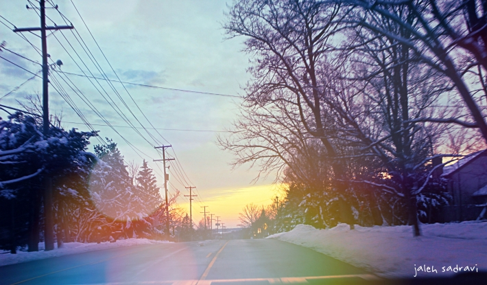 ohio winter road