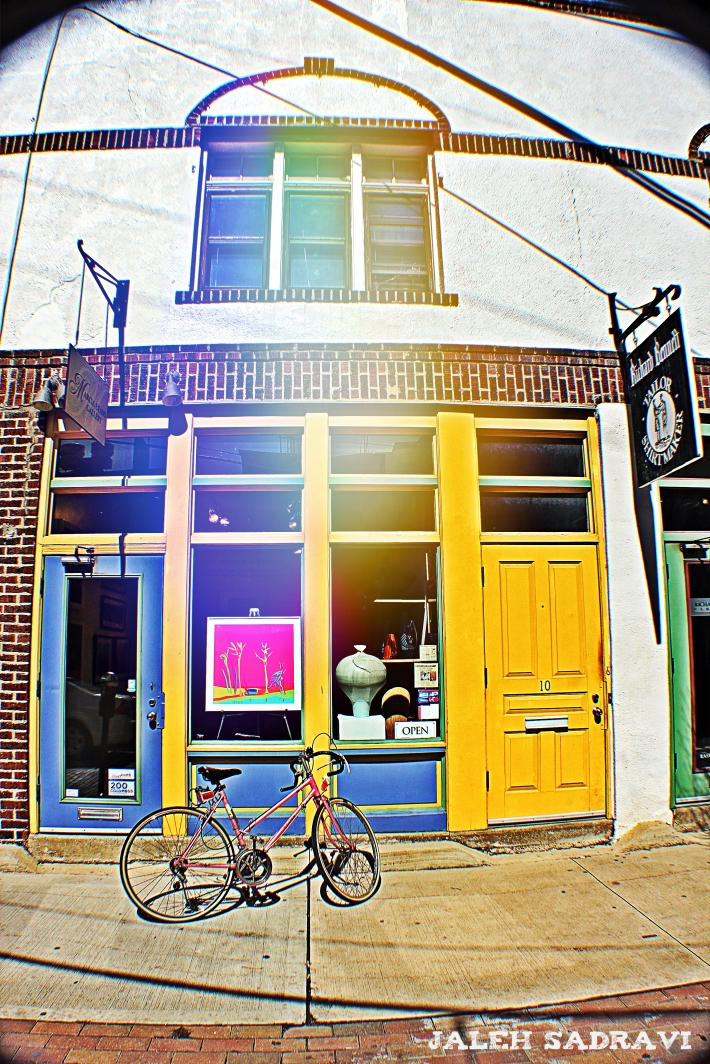 yellow door pink bike